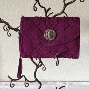 Vera Bradley Purple Quilted turnlock wallet